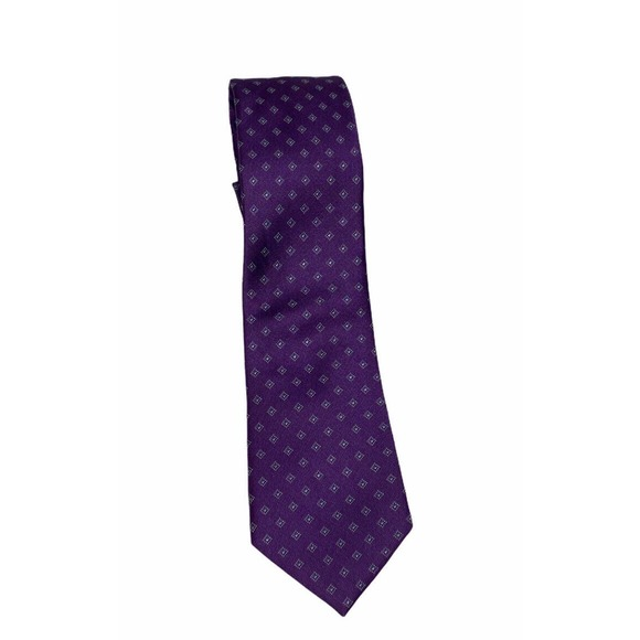 MICHAEL KORS MEN Purple Geometric Silk Tie